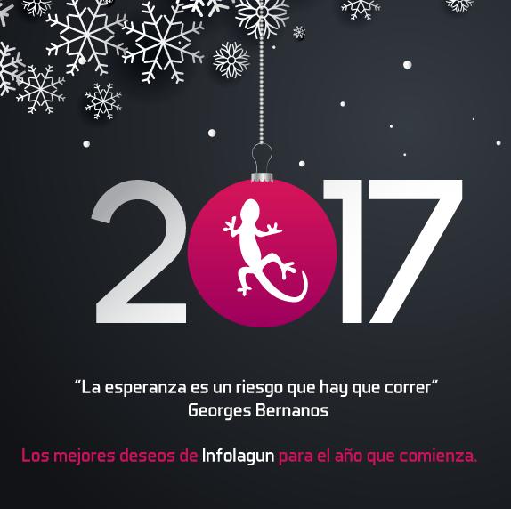 Felicitación de Navidad de Infolagun para nuevo año 2017